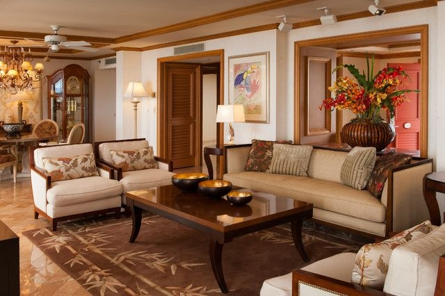 Hospitality  A Wailea Resort Hotel  Tropical  Living Room  Hawaii Interior Design
