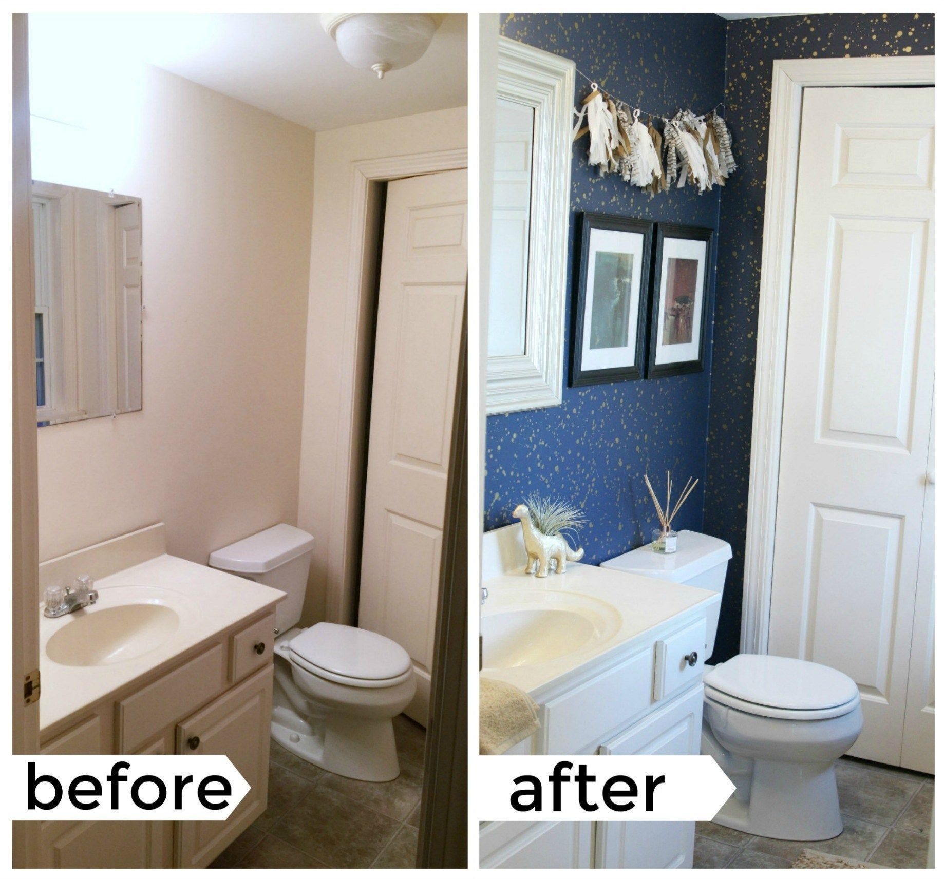 How To Decorate Your Rental Space Bathroom Rental Decor  Rental Bathroom Makeover Rental Home