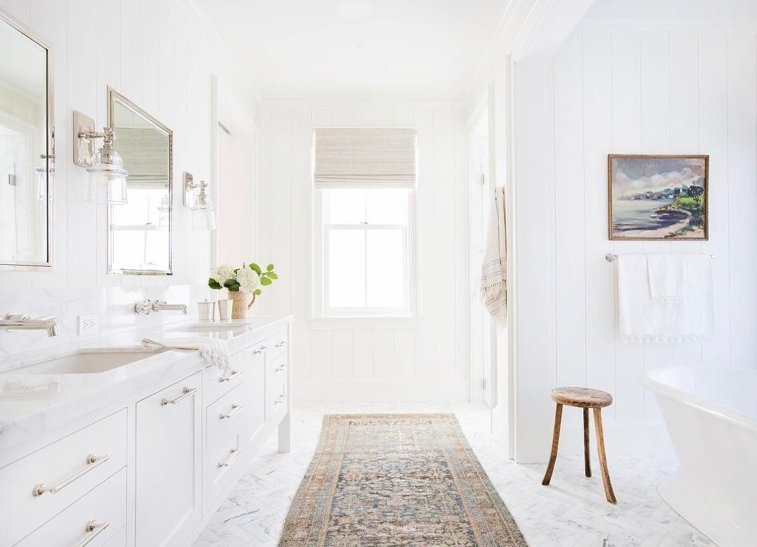 I Really Love This Super White And Bright Bathroom The Natural Light Is Amazing And All The