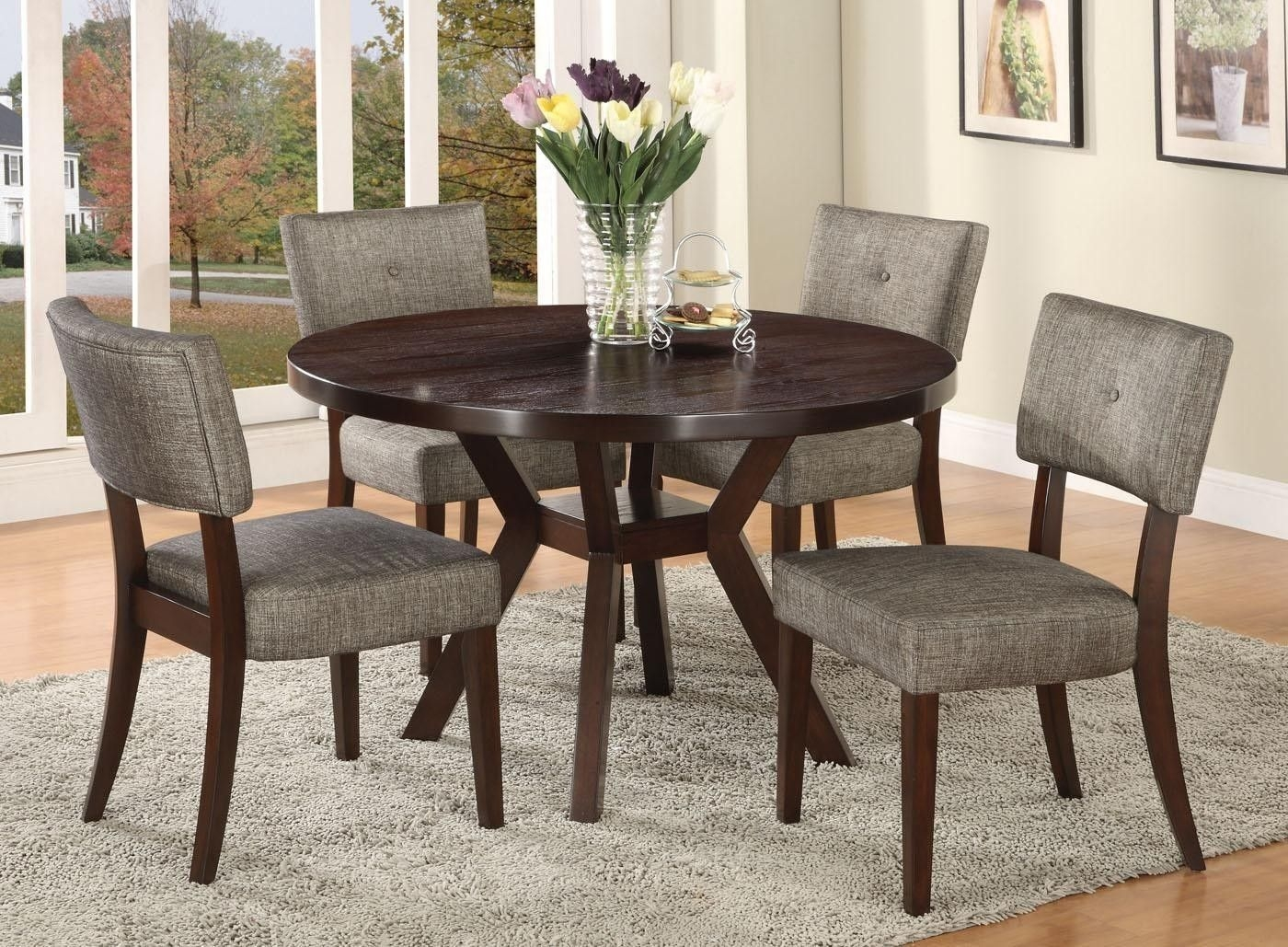 Infini Furnishings 5 Piece Dining Set  Reviews  Wayfair  Round Dining Room Sets Kitchen