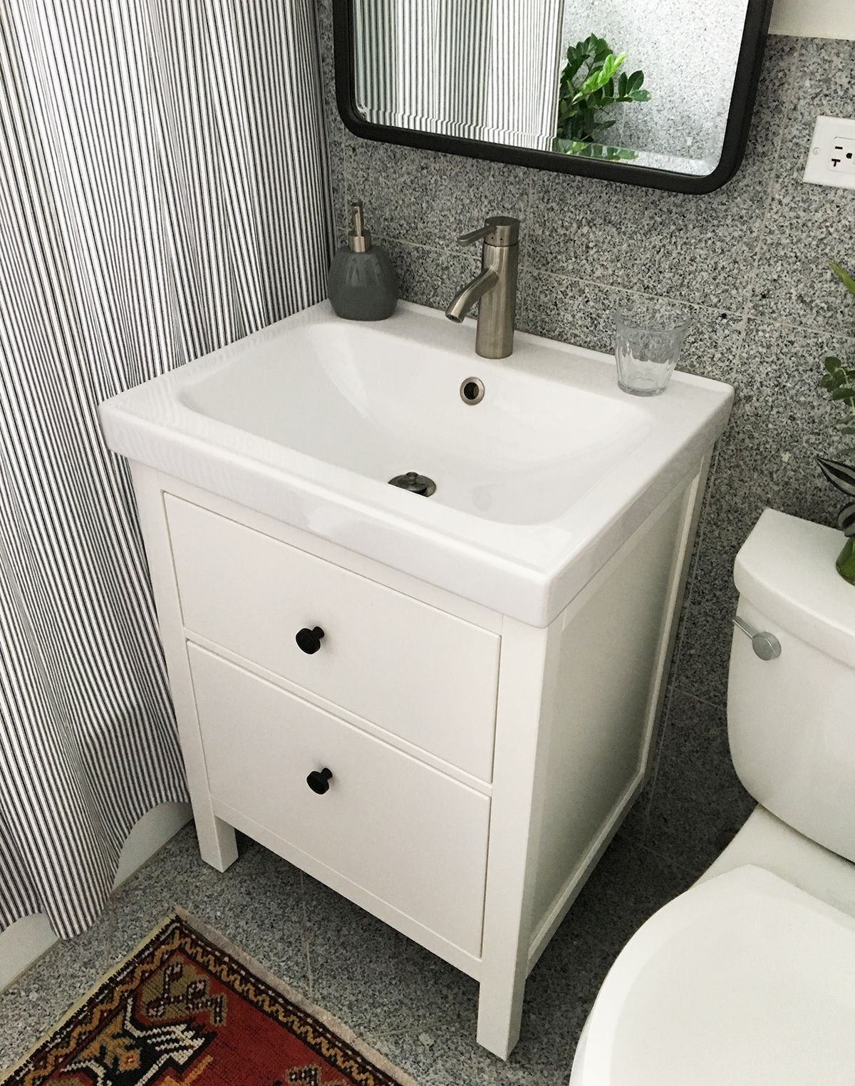 Installing A Hemnes  Odensvik Bathroom Vanity And Sink  Ikea Bathroom Vanity Ikea Bathroom