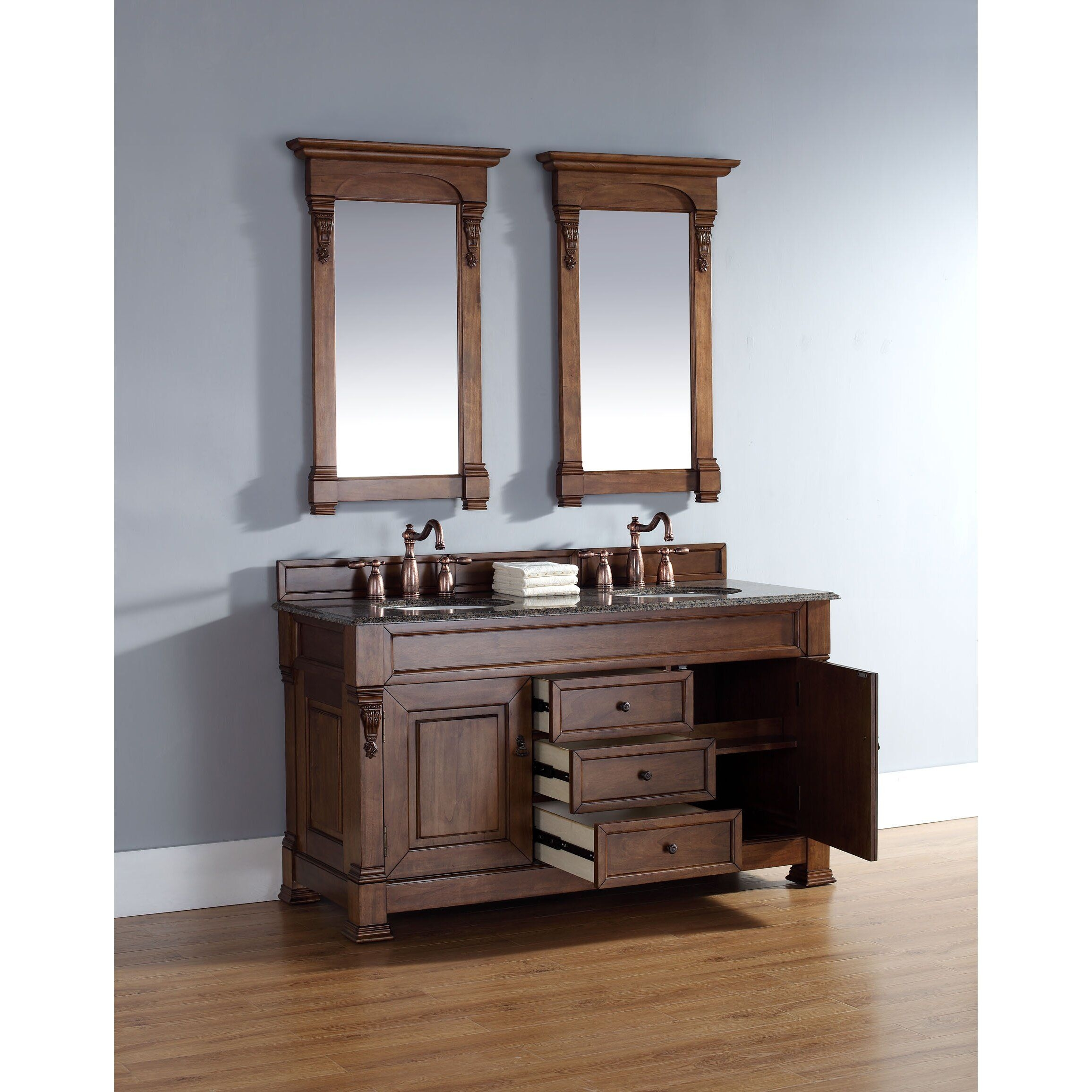 "James Martin Furniture Brookfield 60"" Double Bathroom Vanity Base I  Reviews  Wayfair"
