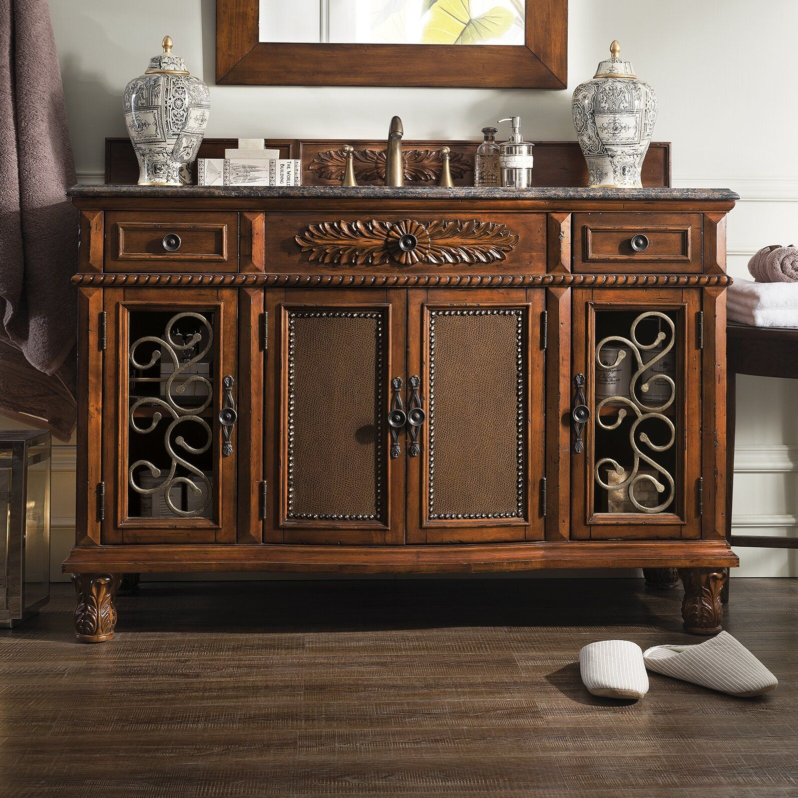 "James Martin Furniture Classico 53"" Single Cherry Bathroom Vanity Set  Reviews  Wayfair"