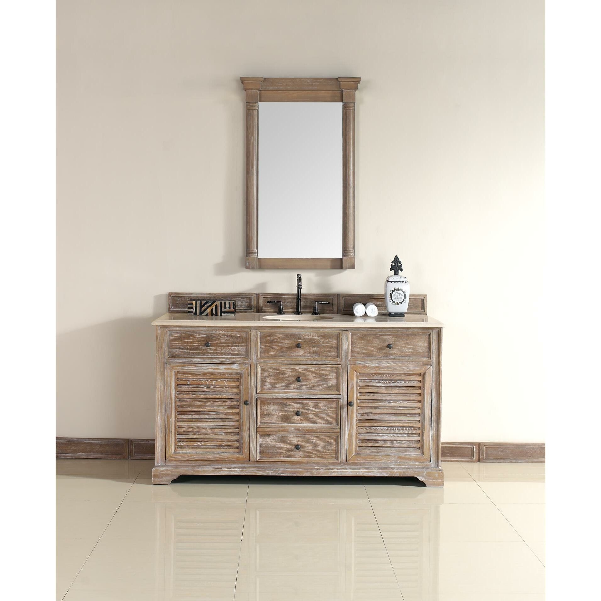 "James Martin Furniture Savannah 60"" Single Bathroom Vanity Set  Reviews  Wayfair"