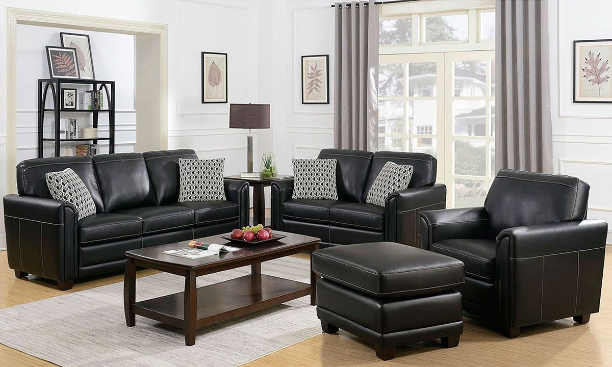 Jennifer Furniture American Made 4Piece Sofa Set Black  The Dump Luxe Furniture Outlet