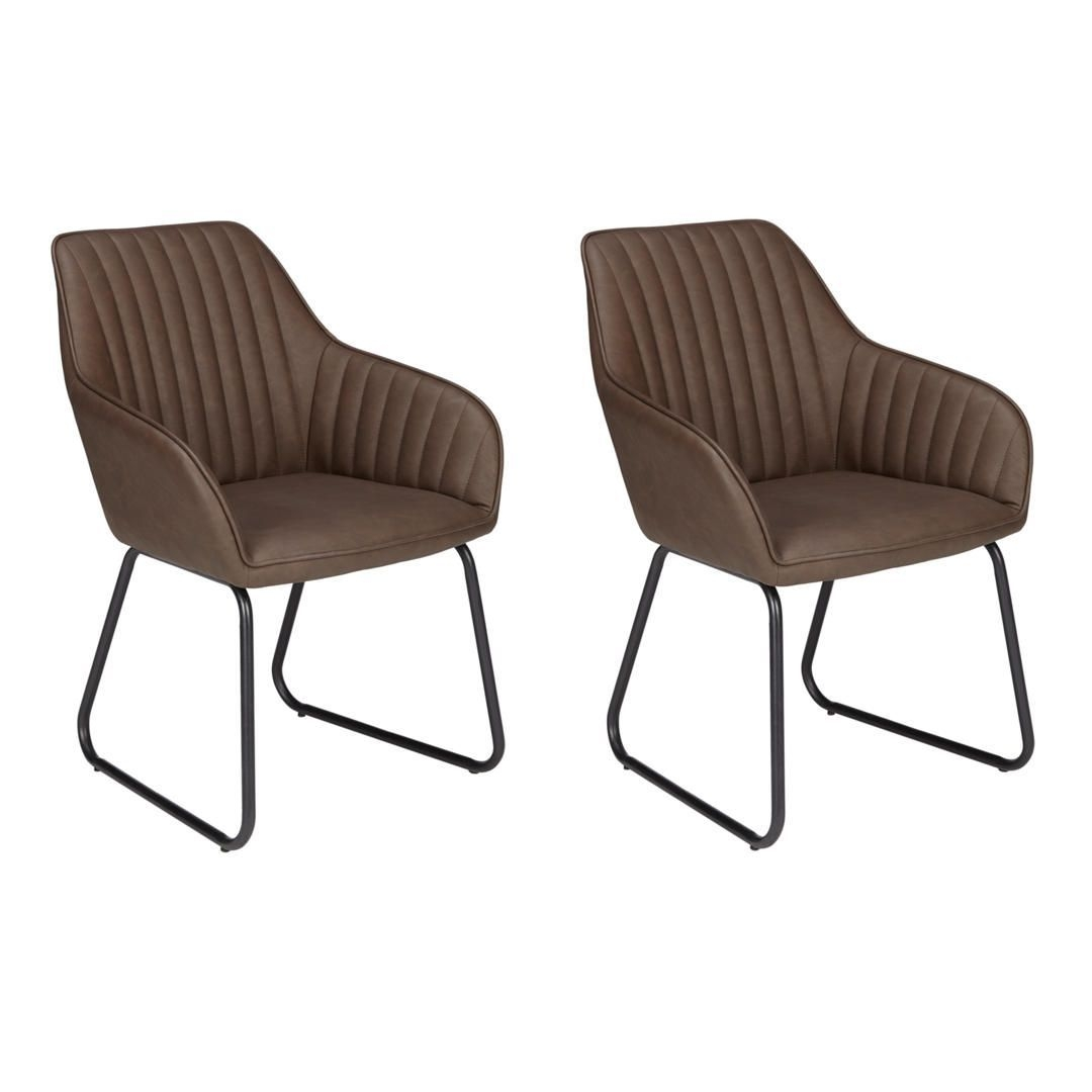 John Lewis  Partners Brooks Dining Armchairs Set Of 2 Antique Brown  Side Chairs Dining