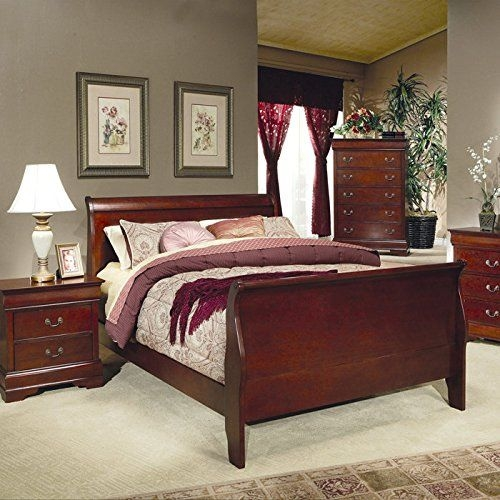 King Size Sleigh Bed For Classic Look Bedroom