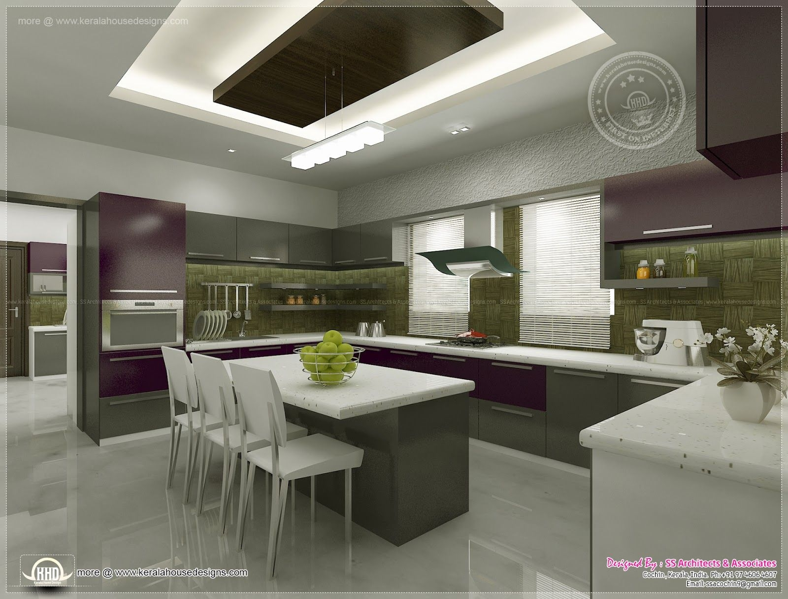 Kitchen Interior Viewsss Architects Cochin  House Design Plans