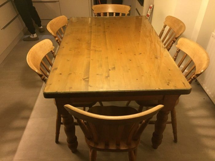 Kitchen Table Solid Pine And 6 Chairs For Sale In Stillorgan Dublin From Bailey
