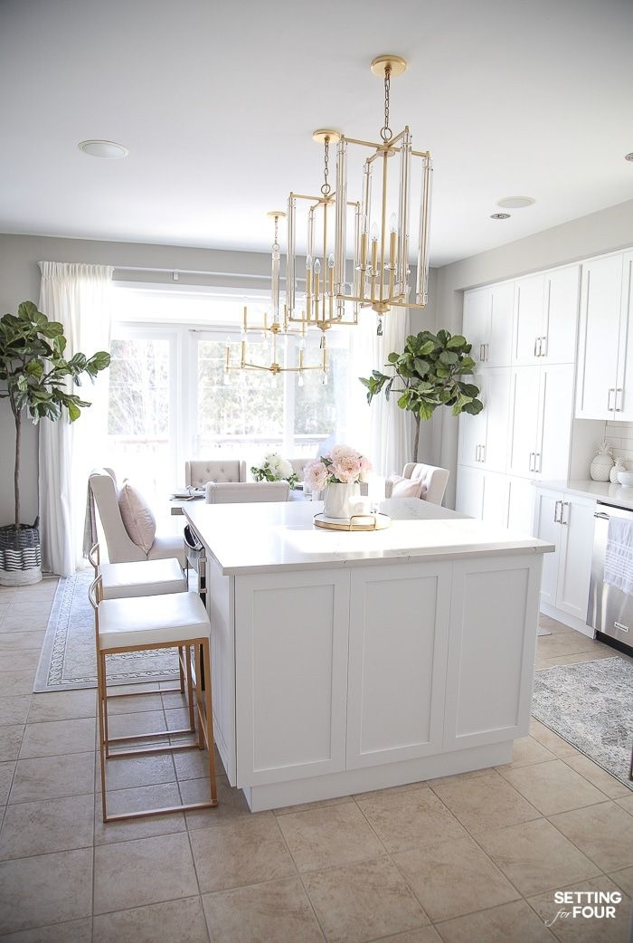 Light And Bright Spring Kitchen Decor Ideas  Setting For Four