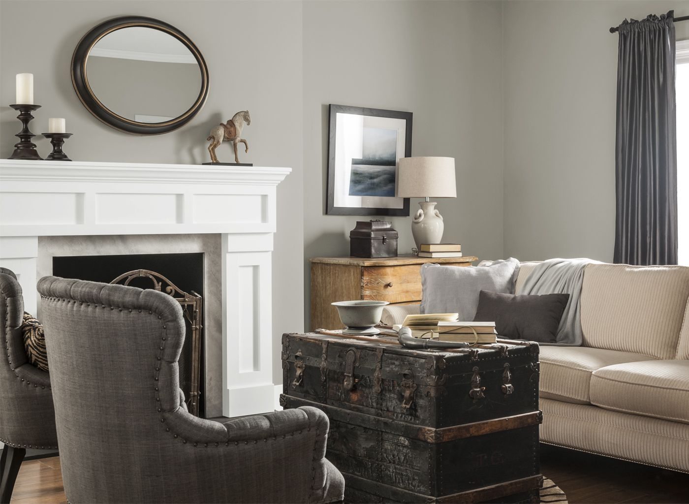 Living Room In Pewter Grey  Paint Colors For Living Room Living Room Colors Living Room Wall