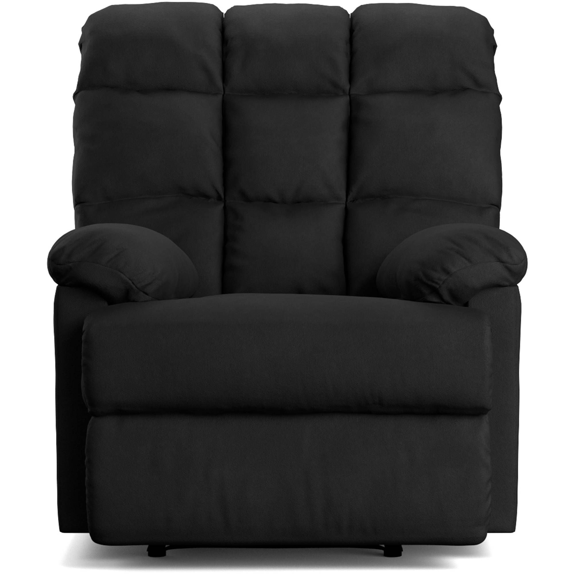 Living Room Recliner Chair Reclining Sofa Home High Back Footrest Legrest Black 894273030990  Ebay