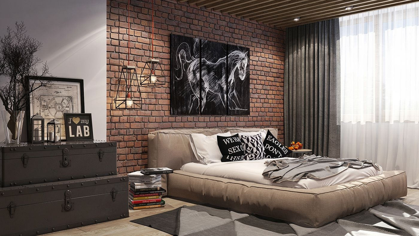Loft Style Bedroom On Behance