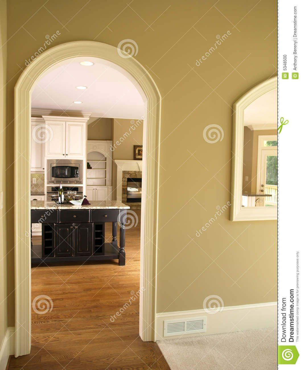 Luxury Model Home Kitchen Arch Door Stock Photo  Image Of Indoor Furniture 5348500