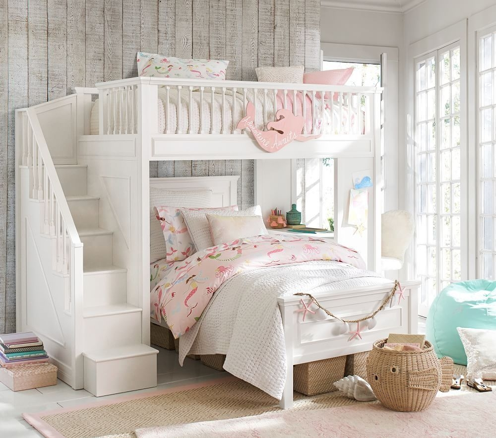 Mermaid Bedding  Bed For Girls Room Bunk Bed Rooms Girls Bunk Beds