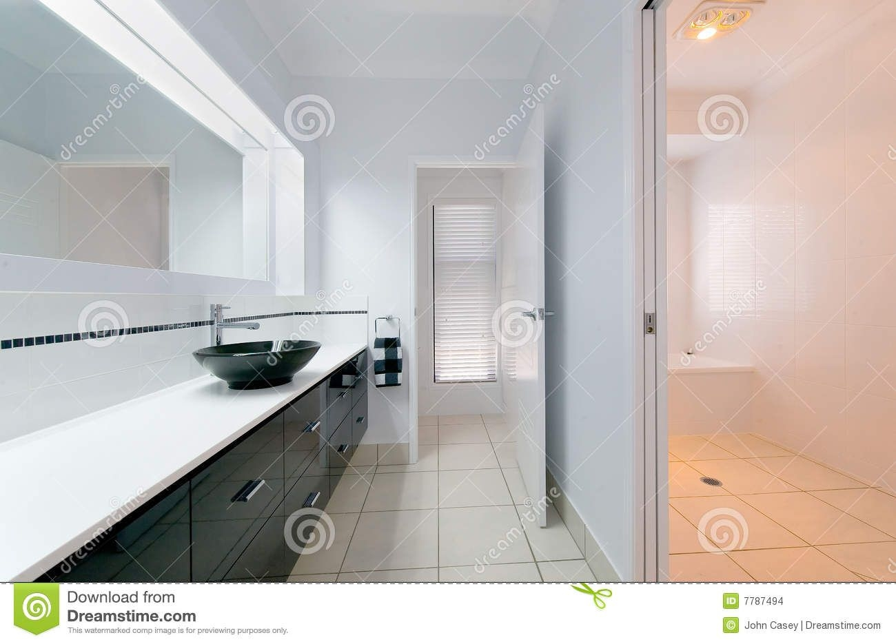 Modern Bathroom Interior Stock Photo Image Of Clean Decorator  7787494