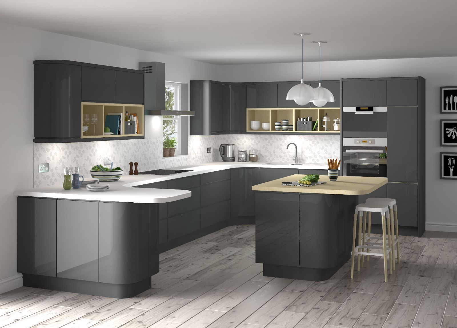 Modern Grey Kitchen Designs Photo  Modern Grey Kitchen Grey Kitchen Designs Modern Kitchen Design