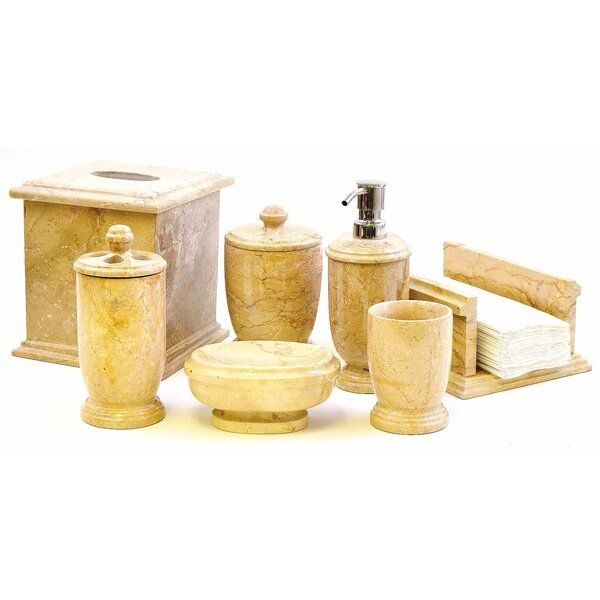 Nature Home Decor Atlantic Sahara 7Piece Bathroom Accessory Set  Reviews  Wayfair