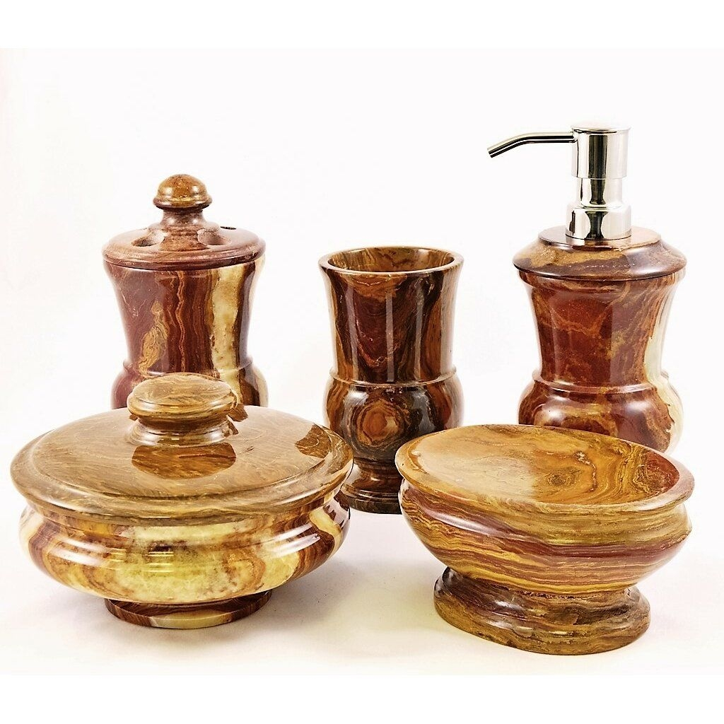 Nature Home Decor Mediterranean Onyx 5Piece Bathroom Accessory Set  Wayfair