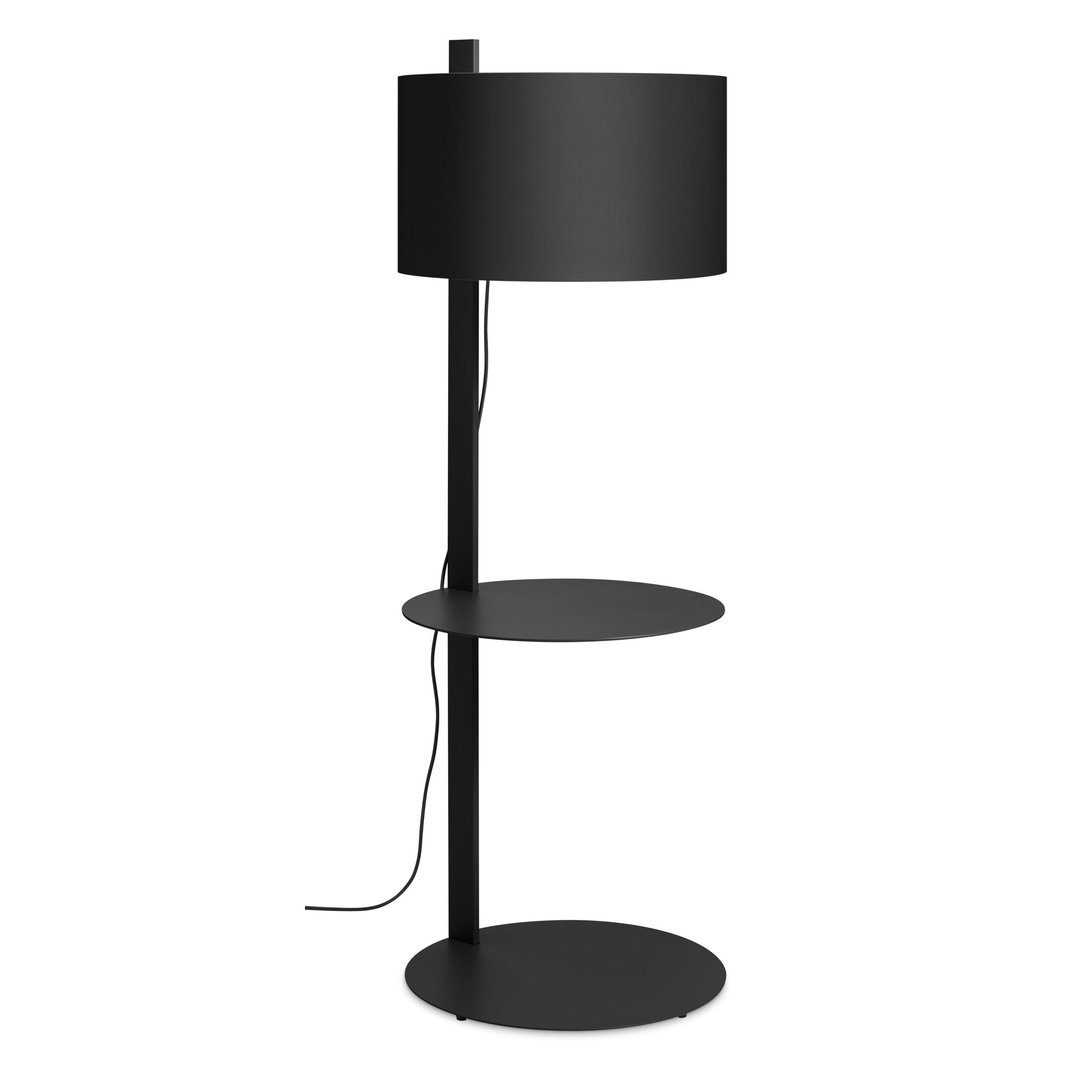 Note Large Floor Lamp With Table  Black With Images  Large Floor Lamp Lamp Modern Floor Lamps