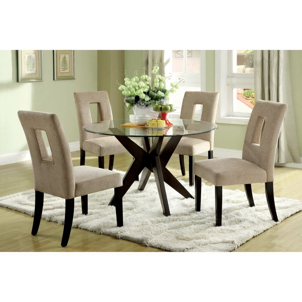 Novae Round Tempered Glass Top Dining Table  Overstock  Glass Dining Room Table Glass