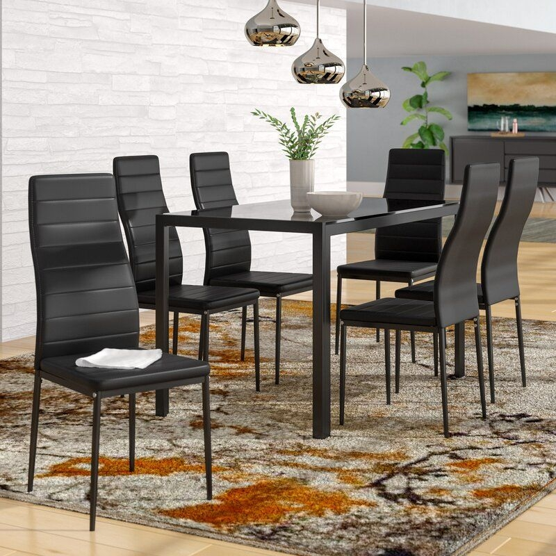 Orren Ellis Renick Modern 7 Piece Dining Set  Reviews  Wayfairca