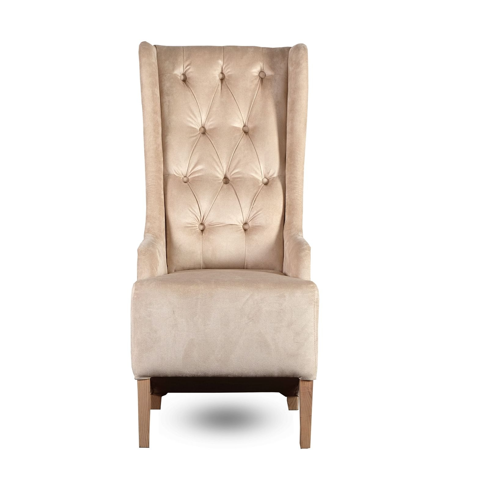 "Padded Design Chair ""New York""  Velvet Cover Beige  Living Room Chair  Ebay"