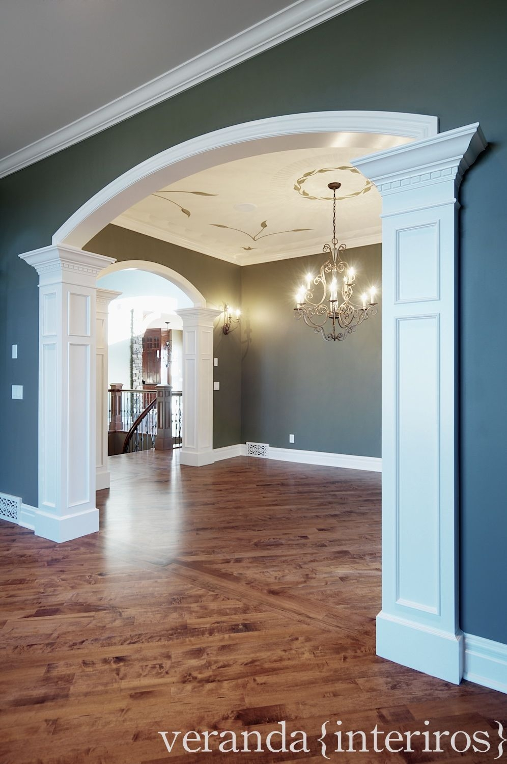 Past Work With Images  Veranda Interiors Archway Decor Dining Room Remodel