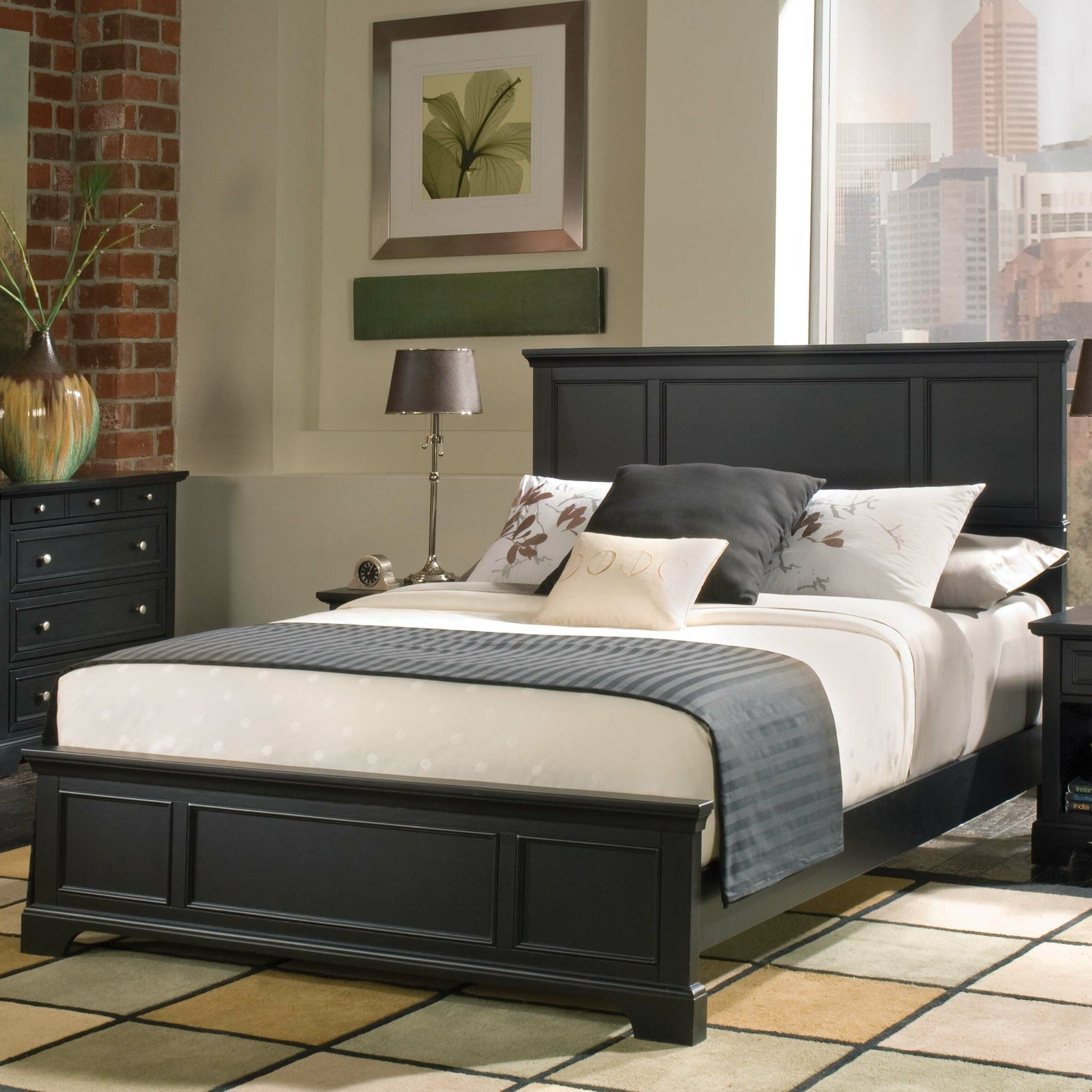 Perth Amboy Queen Panel Bed  Wayfair