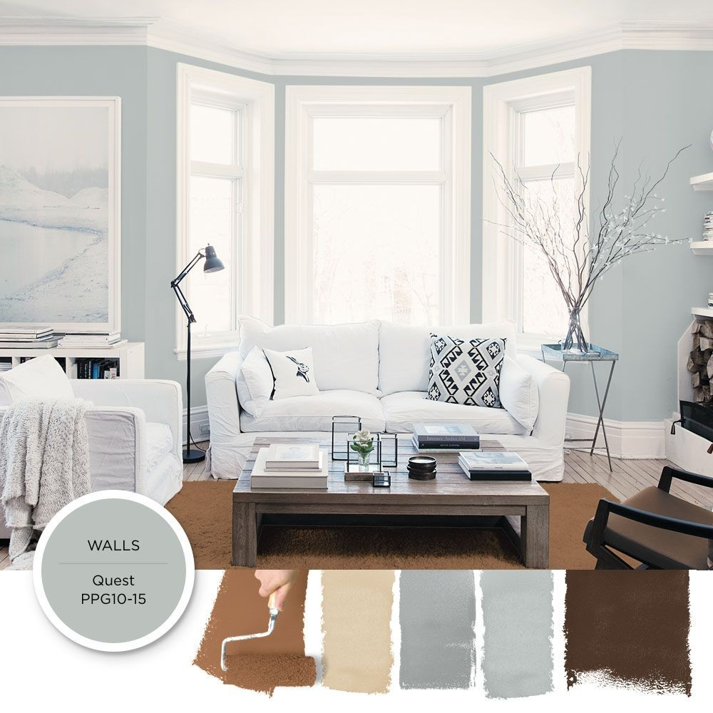 Quest  Ppg1015 In 2019  Living Room Colors Popular Paint Colors Blue Gray Paint Colors
