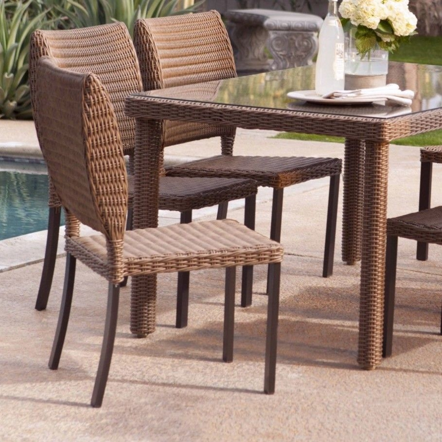 Rattan Dining Chairs Presenting Modern Rusticity For Nature Themed Space  Amaza Design