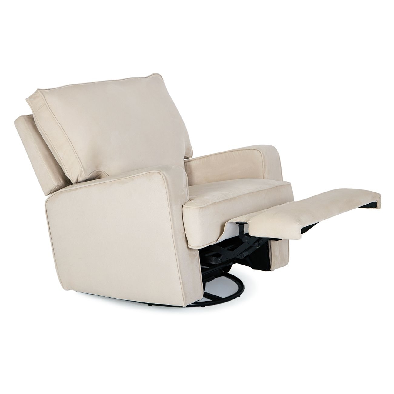 Recliner Sofa Swivel Chair Linen Ergonomic Padded Seat Lounge Living Room Beige  Ebay