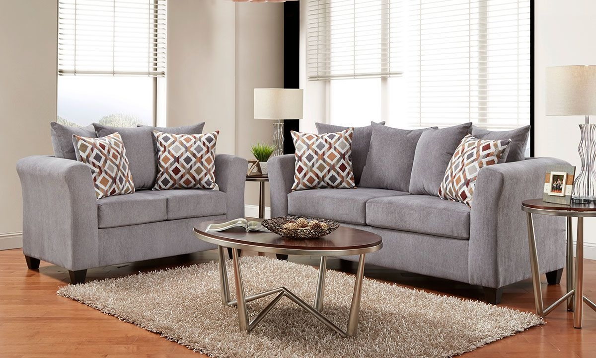 Rue 2Piece Sofa Set In Gray  The Dump Luxe Furniture Outlet