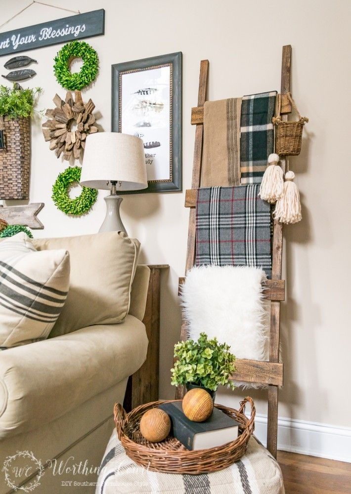Rustic Decorative Ladder  The Creative Corner 84 Diy Craft  Home Decor Link Party  The Diy