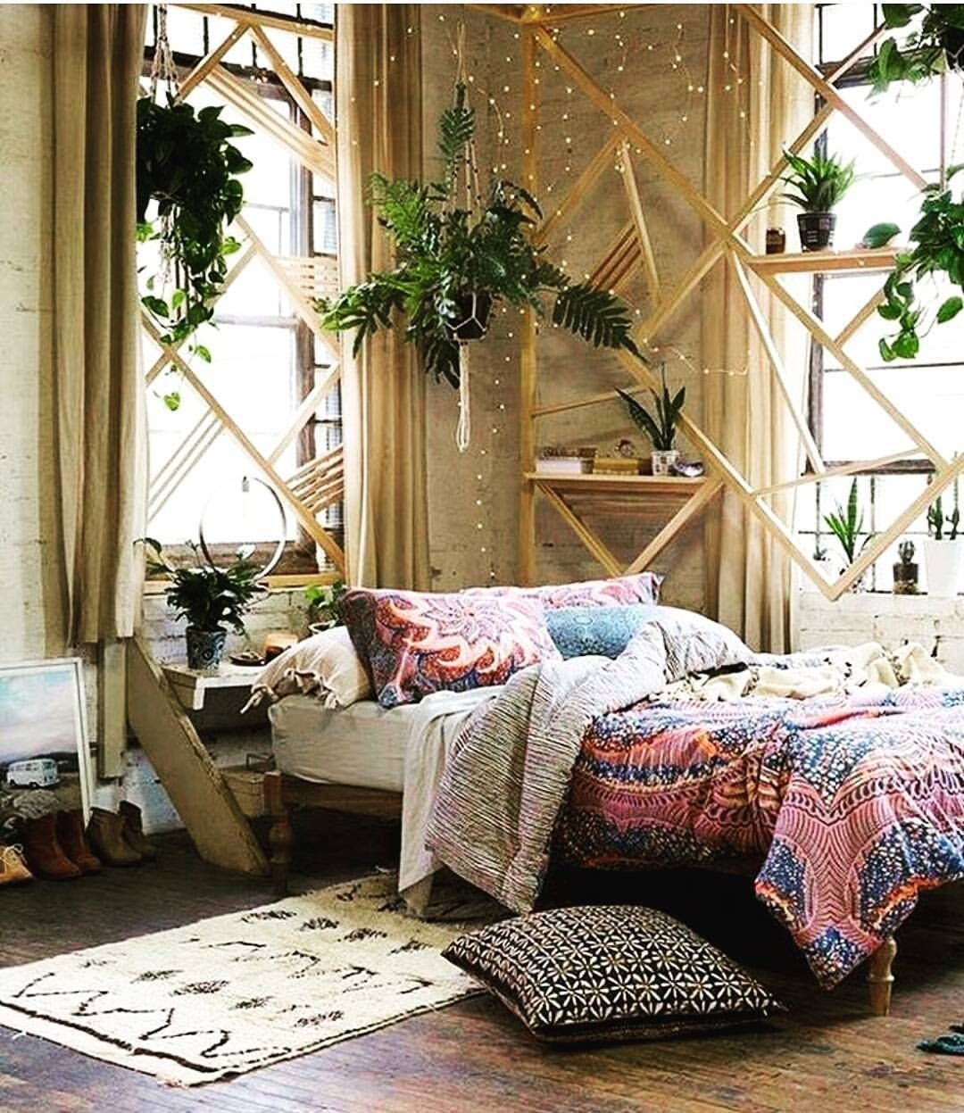 See This Instagram Photohippiesunflower • 3025 Likes  Bohemian Bedroom Design Bohemian