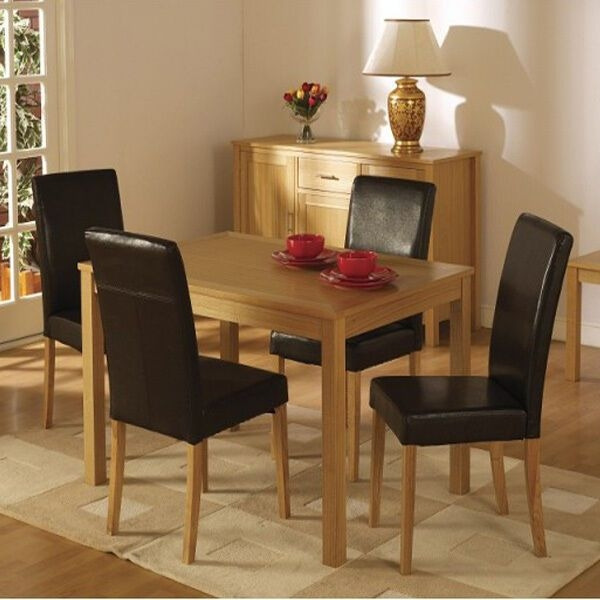 Set 2 Faux Leather Dining Room Chairs Kitchen Living Room Home Ivory Black Brown  Ebay