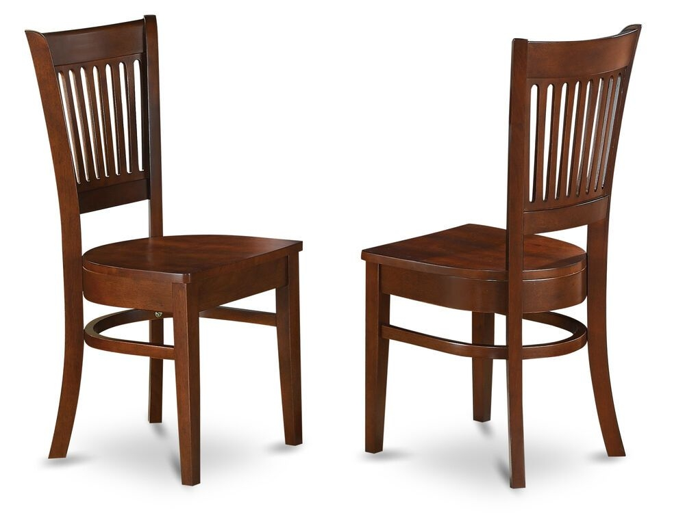 Set Of 2 Vancouver Dinette Kitchen Dining Chairs W Plain Wood Seat In Espresso  Ebay