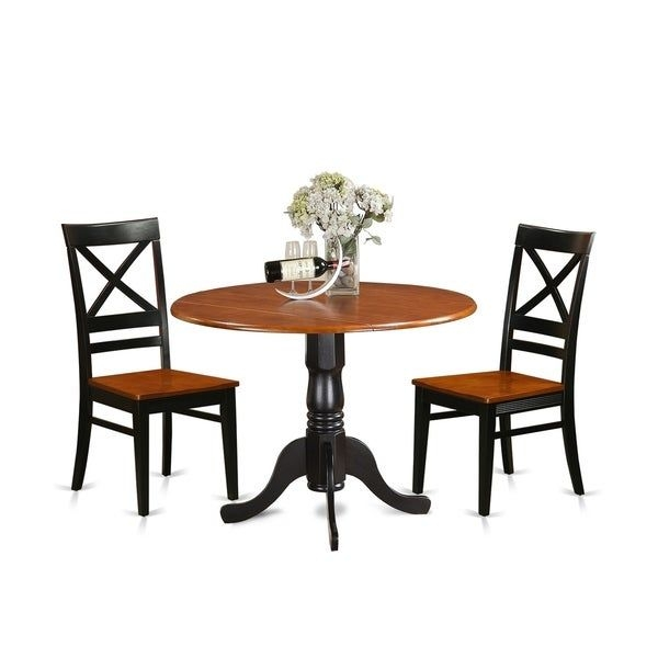 Shop Dlqu3W 3 Pc Kitchen Table Setdining Table And 2 Kitchen Chairs  Overstock  17652167