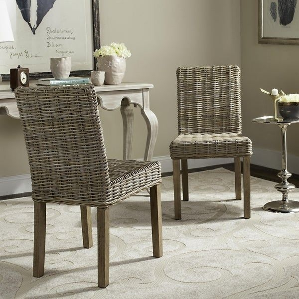 Shop Safavieh Rural Woven Dining Grove Unfinished Natural Wicker Dining Chairs Set Of 2  19