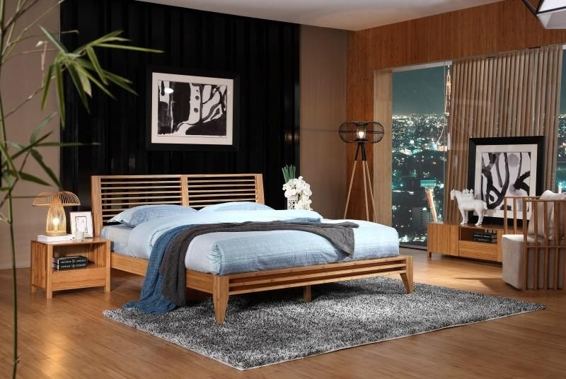 Simple Practical Bamboo Furniture Bedroom Hotel Double Beds  W003A W003Al  Bamboo Yue Yue