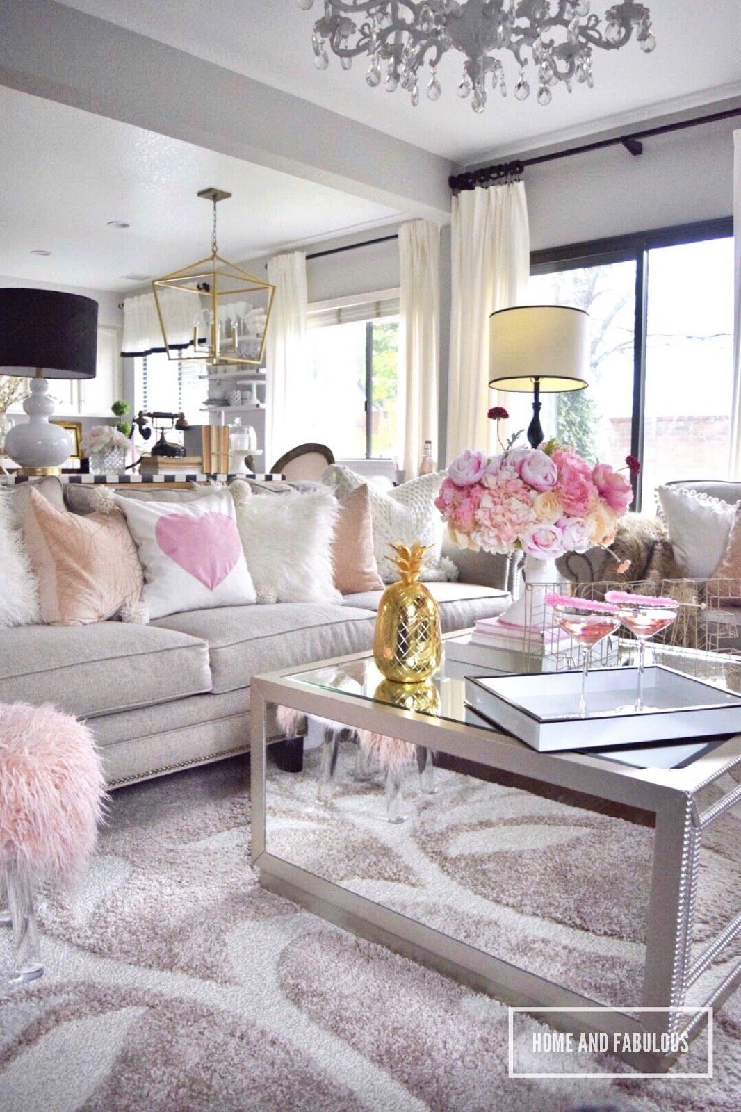 Simple Styling Ideas Valentin Day Edition  Glam Living Room Living Room Designs Room Decor