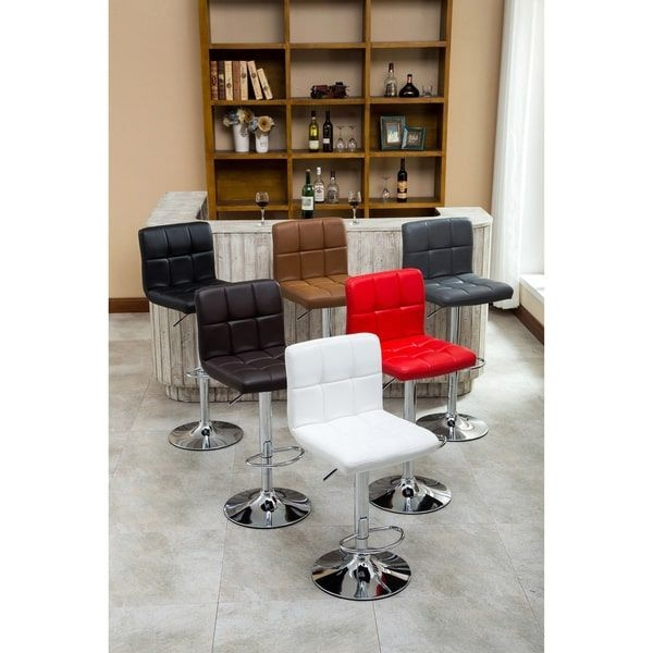 Sleek And Incredibly Fashionable These Adjustable Swivel Stools Are A Contemporary Way To