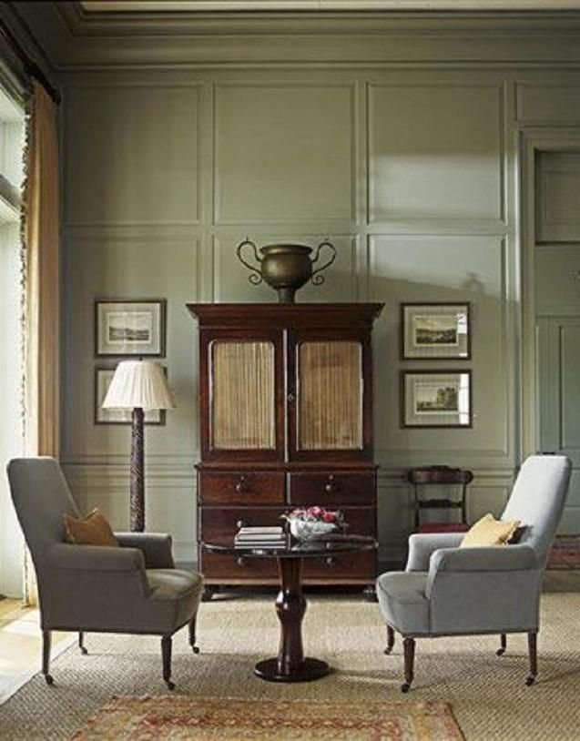 Soft Graygreen Living Room 'Aganthus Green'Benjamin Moore  Living Room Green Grey Home