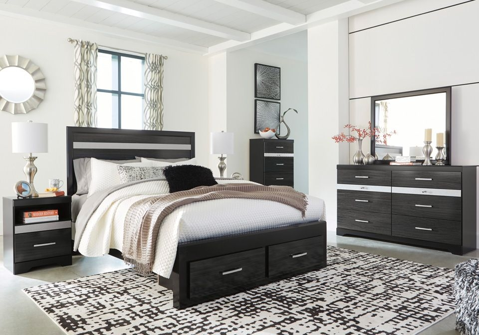 Starberry Black Queen Storage Bedroom Set  Cincinnati Overstock Warehouse