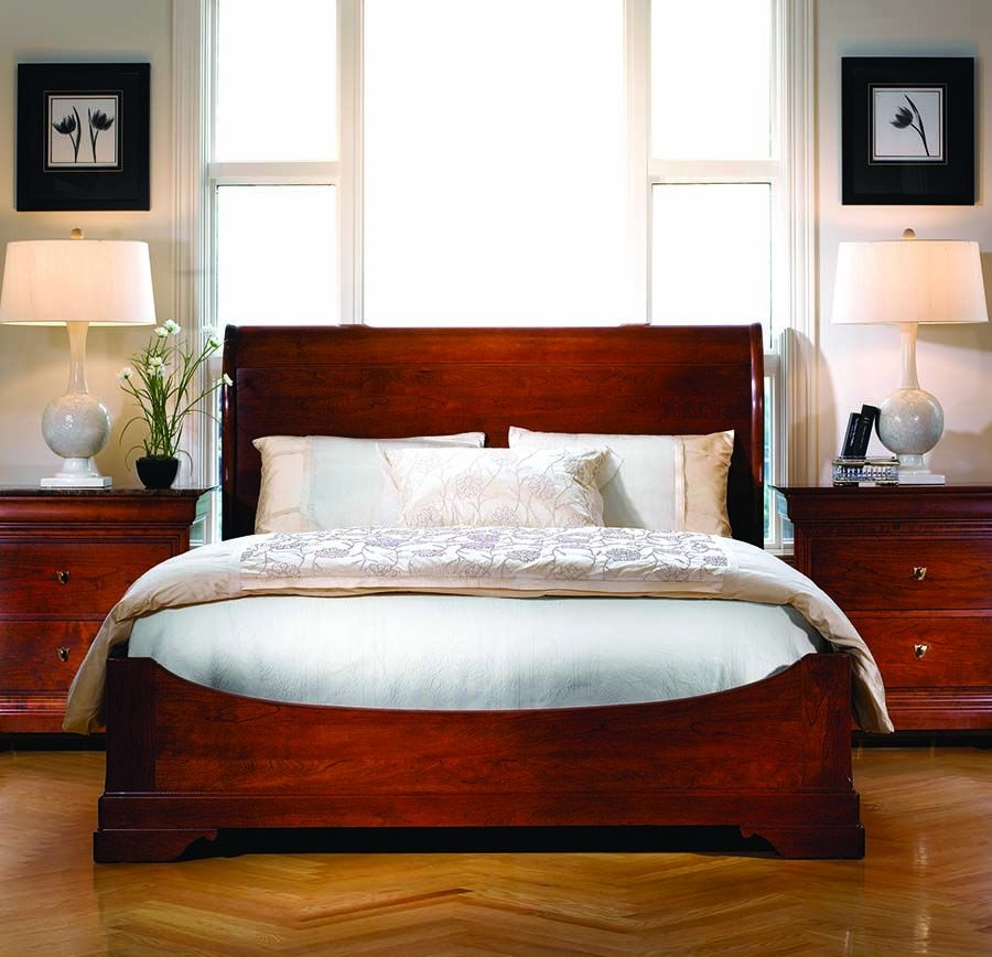 Stickley Furniture La Rochelle Sleigh Bed Crafted Of Solid Cherry Made In Usa  Stickley