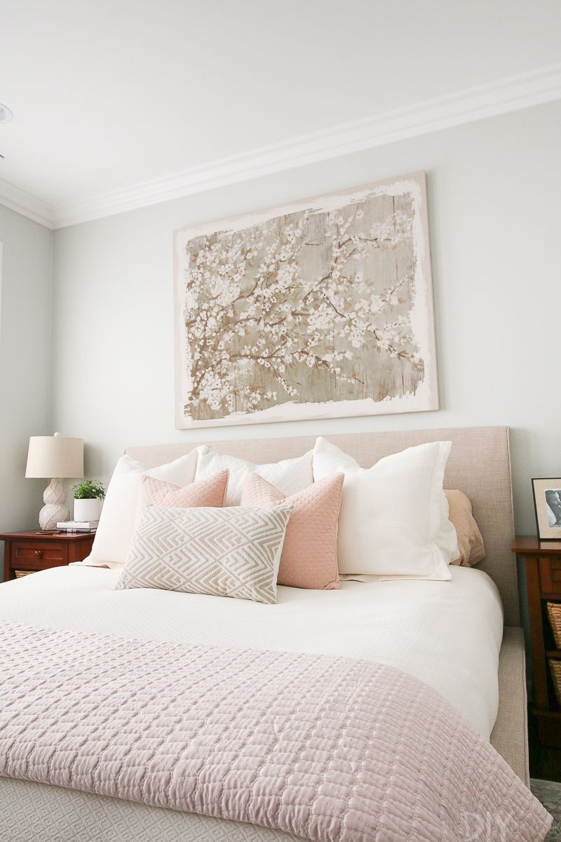Styling A Blush Bedroom With Feminine Touches  Serene Bedroom Home Bedroom Bedroom Decor