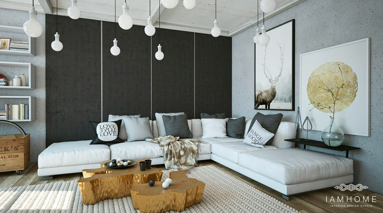 Stylish Apartment Living Room Design For Couple  Hupehome