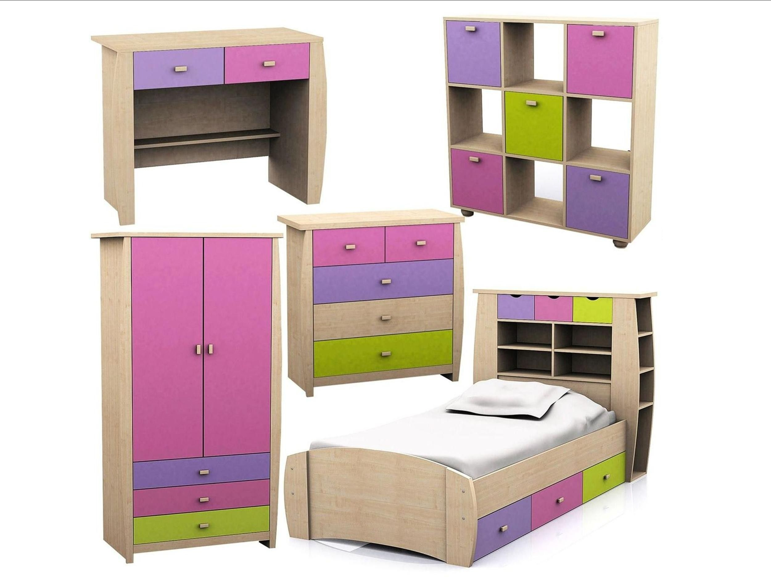 Sydney Desk Dressing Table  Pink Lilac  Childrens Bedroom Furniture
