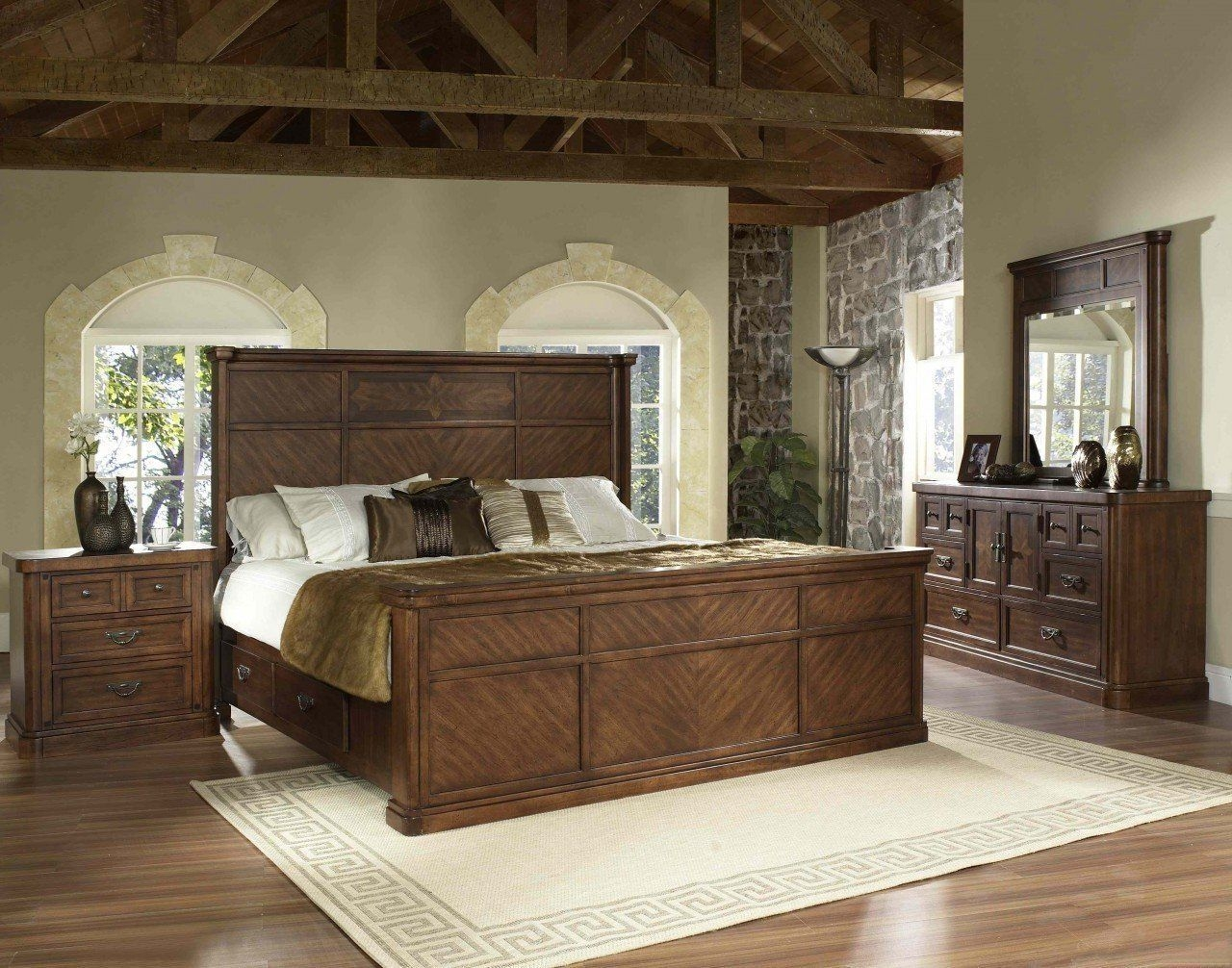 The Melina Elegant Traditional Storage Bedroom Set  Bedroom Furniture Bedroom Sets