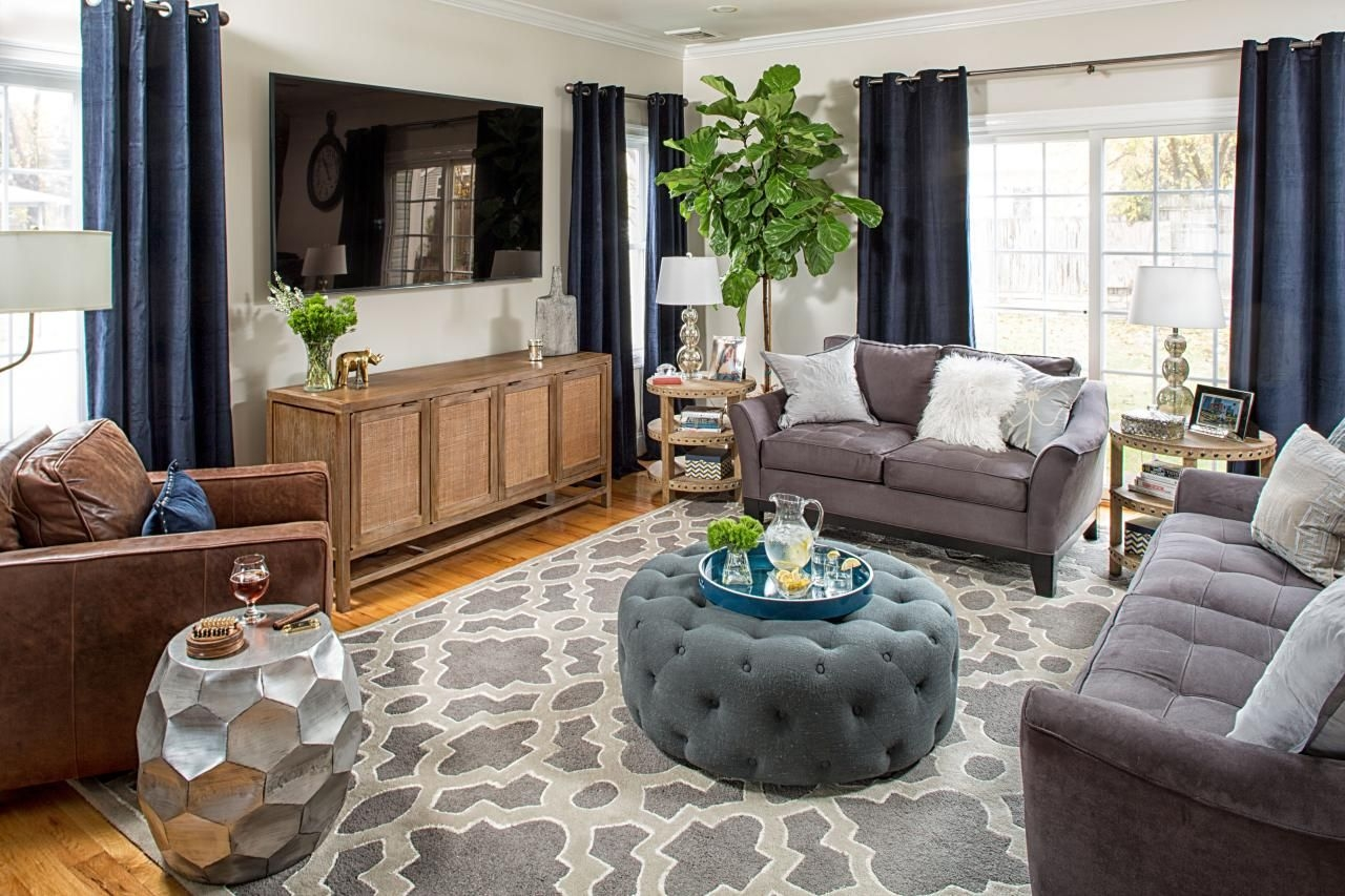 Transitional Living Room Features Tasteful Design  Hgtv